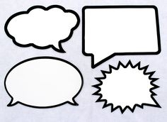 LARGE Dry Erase Speech Bubble Board Set. Black Marker Included. Waterproof and Durable. For Photo booth and Photo Props.. $43.00, via Etsy.