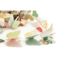 Silhouette Design Store - View Design #26546: butterfly garland