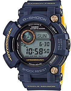 Amazon.com  CASIO G-SHOCK MASTER OF G FROGMAN NAVY BLUE GWF-D1000NV-2JF  MENS JAPAN IMPORT  Watches 29abe0faca