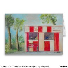 TOM'S OLD FLORIDA GIFTS Greeting Card