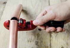 Bauanleitung mit Kupferrohren. Regal DIY