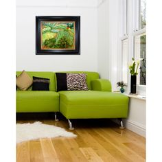 """Pantone's 2013 #coloroftheyear-inspired home decor idea for master dwellers and interior designers: a hand painted reproduction of """"Field with Poppies"""" by Vincent van Gogh available from www.overstockArt.com. #Emerald"""