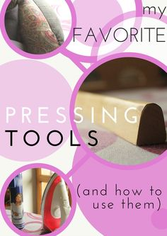 Serger Pepper 4 So Sew Easy - My favorite pressing tools for sewing and how to use them. Included: a wooden press stick DIY project