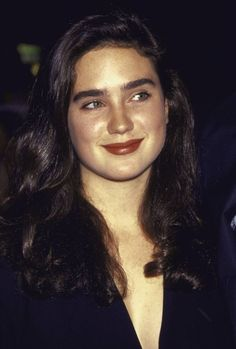 jennifer connelly, The Rocketeer prem. Jennifer Connelly Young, Fresh Makeup Look, Dame Diana Rigg, Miranda Cosgrove, Beautiful Actresses, Celebrity Crush, American Actress, Brown Hair, Beautiful Women