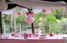 Table style for a little princess' pink 1st birthday! In love with pink x  From www.specialeventsbymelissa.ning.com