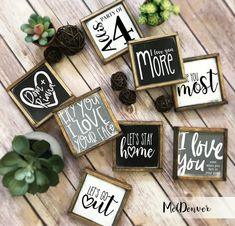 Rustic farmhouse style signs now in two sizes! Tiered tray coffee bar entry mantel bathroom signs they stand up on their own! Farmhouse Signs, Rustic Farmhouse, Farmhouse Style, Farmhouse Ideas, Farmhouse Frames, Have Courage And Be Kind, Youre My Person, Rustic Bathrooms, Bathroom Signs