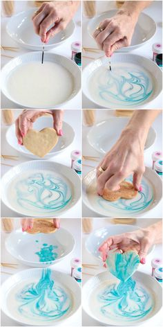 Great for Holiday Cutouts. With a simple decorating technique and a one-bowl, no-mixer shortbread dough you need these crisp, buttery, super easy Valentine cookies in your arsenal! Pink Cookies, Iced Cookies, Royal Icing Cookies, Cookies Et Biscuits, Cake Cookies, Sugar Cookies, Cupcakes, Sugar Cookie Icing, Heart Cookies