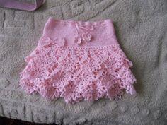 Ideas Crochet Skirt Pattern Free Kids For 2019 Gilet Crochet, Crochet Stitches, Knit Crochet, Easy Crochet, Crochet Crafts, Crochet Projects, Knitting Patterns, Crochet Patterns, Pattern Sewing