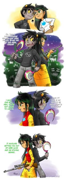 Jade and Karkat #homestuck<<I don't ship them though I think they're adorable together though at the end of this I was just like NOOOOOOOOOO