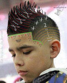 "・・・ Skin Tight Faded Mohawk Done Using The ""Wahl Magic Clip"" Cordless Clipper. Cut Done By Diagram… Cute Boys Haircuts, Haircuts For Men, Boys Mohawk, Mohawk Hair, Barber Tips, Hair Cutting Techniques, Barber Haircuts, Barbers Cut, Haircut Designs"
