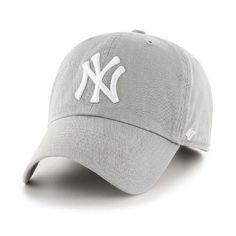New York Yankees 47 Brand Gray Franchise Fitted Hat - Detroit Game Gear Twins Baseball, Baseball Cap, Baseball Games, Baseball Records, Baseball Jackets, Baseball Display, Yankees Hat, Yankees Logo, Athleisure Fashion