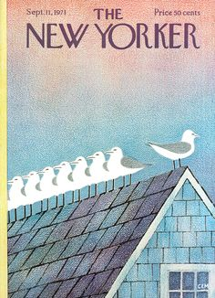 The New Yorker - Saturday, September 11, 1971 - Issue # 2430 - Vol. 47 - N° 30 - Cover by : Charles E. Martin