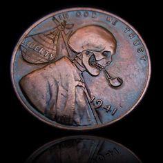 skeleton hobo nickel