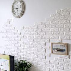 Brick Pattern Wallpaper Bedroom Living Room Modern Wall Background TV Decor Image 3 of 5 Brick Pattern Wallpaper, Brick Wall Wallpaper, Wall Stickers Wallpaper, Wallpaper Decor, Wall Stickers Home Decor, Adhesive Wallpaper, Wall Decor, Bedroom Wallpaper, Wallpaper Roll