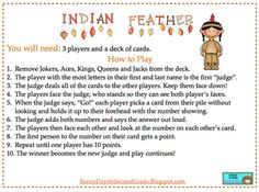 Indian Feather ... Salute... Whatever you call it. This is a great math game. This one is for you Kathy!