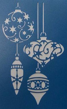 Christmas Baubles Stencil