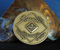 Narcotics Anonymous Vintage Medallion 18 Month NA Coin Chip Token | eBay