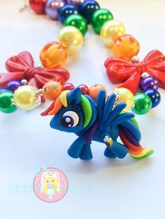 Rainbow Dash Necklace My Little Pony Inspired by ZallistasBowtique, $34.00