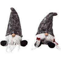 Plush Short Santa Gnome Decorations Set of 2