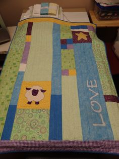 Baby quilt made for my granddaughter Aria.