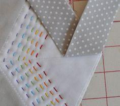 Binding a hexagon quilt