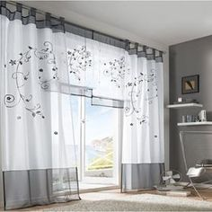 Cheap cortinas panel, Buy Quality curtains tulle directly from China sheer curtains Suppliers: Price for 1 Piece Hot Selling Embroidered Sheer Curtain Tulle Blind Cortinas Panel For Living Room Curtain For Door Window, Door Curtains, Curtains With Blinds, Types Of Curtains, Bathroom Curtains, Blackout Curtains, Bay Window, Tulle Curtains, Cheap Curtains
