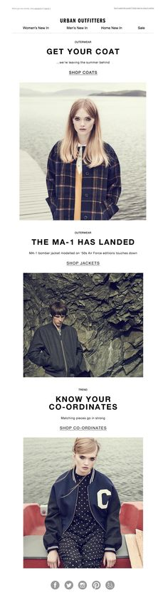 #newsletter Urban Outfitters 10.2014 Our outerwear is outta here!
