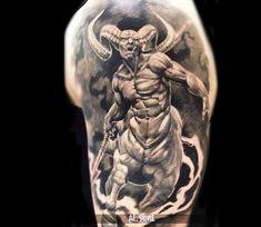 Realistic Devil Tattoo by Alexander Romashev | Tattoo No. 13104