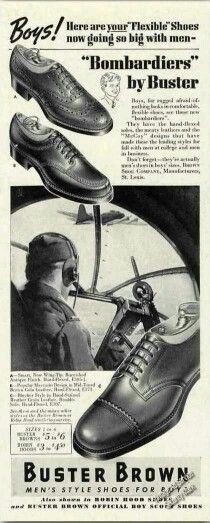 Mens shoes ad 1940's Buster Brown