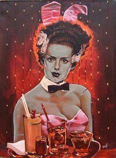 Bride of Frankenstein play boy bunny!
