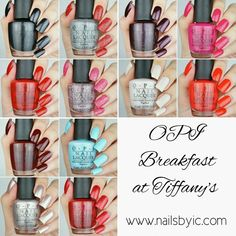 OPI Breakfast at Tiffany's swatches & review on www.nailsbyic.com