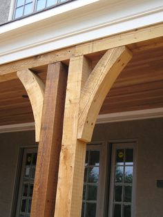 The pergola kits are the easiest and quickest way to build a garden pergola. There are lots of do it yourself pergola kits available to you so that anyone could easily put them together to construct a new structure at their backyard. Front Porch Columns, Screened In Porch, Front Porches, Porch Railings, Cedar Posts, Genius Loci, Building A Porch, House With Porch, House Roof