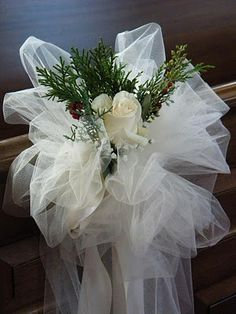 Best Beautiful Wedding Tulle Decorations Ideas wedding decorations Best Beautiful Wedding Tulle Decorations Ideas - Fashion and Wedding Church Pew Wedding Decorations, Wedding Church Aisle, Tulle Decorations, Church Wedding Flowers, Wedding Pews, Wedding Chairs, Bridal Shower Decorations, Wedding Bouquets, Diy Wedding