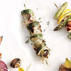 Yogurt-Marinated Chicken and Zucchini Kebabs Recipe | MyRecipes.com