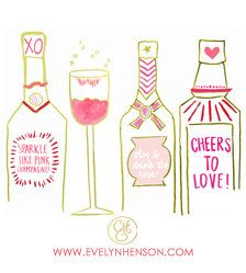 Pink Bar Cart Print Limited Edition through by EvelynHenson