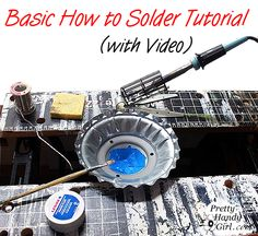 How to solder metals together