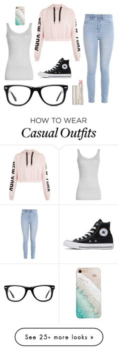 """""""Casual"""" by pineapplelife6286 on Polyvore featuring Hollister Co., Muse, Vince, Converse, Gray Malin and By Terry"""