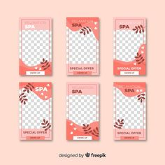 Spa instagram stories template Free Vector Layout Do Instagram, Instagram Design, Instagram Story Template, Instagram Story Ideas, Spa, Origami Templates, Box Templates, Best Small Business Ideas, Food Graphic Design