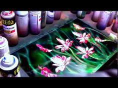 ▶ Spray paint art flower