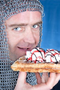 This waffle eatin' Mel Gibson look-a-like who also happens to be a knight: | 35 People Who Definitely Should Never Have Started Modeling