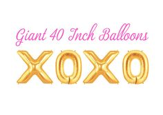 XOXO Gold Foil Letter Balloons, 40 inches tall! If youre looking to make a Fun, Bold & Big Statement at your next event, party or celebration these Giant Gold Balloons will add that extra amount of Bling & Pop youre looking for!  ►I want you to be happy with your purchase, please read the following:  ►You will receive all balloons to spell out Last Fling  ►Size: 40 Inches Tall...3.5 Feet  ►Balloons ship FLAT and DEFLATED. Take them to your local party store to have them pumped with he...