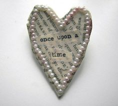 heart - make Christmas ornaments with the pearls around it and a Christmas saying.