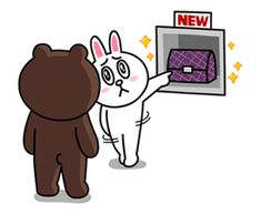 Yes it's finally happened! Brown & Cony are secretly dating! These stickers are a must have for every lovey-dovey couple! - includes a lot of hugs & kisses. Cute Hug, Cute Love Gif, Cute Couple Cartoon, Cute Love Cartoons, Cony Brown, Brown Bear, Line Cony, Browns Game, Bunny And Bear