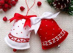 Christmas Bell Ornament Felt Christmas by CuteGiftsAndCrafts