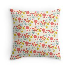 Happy #Flowers Fun Pattern #Pillow