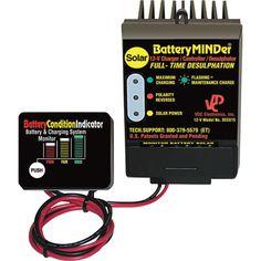 BatteryMINDer 12 Volt Solar Charger-Controller with Desulfator — Model# SCC180 Off Grid Batteries, Golf Cart Batteries, Solar Battery Charger, Portable Battery, Lead Acid Battery, Solar Power, Model, Epsom Salt, Key