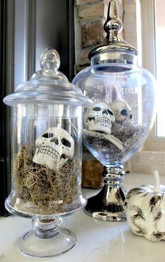 Frightful skulls in