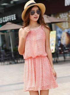 Korean Style Stripe Off Shoulder Crystal Dress Orange US$ 11.42 http://www.global-wholesale.net/Korean-Style-Stripe-Off-Shoulder-Crystal-Dress-Orange_g34362.html