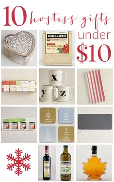 10 HOSTESS GIFTS THAT COST UNDER $10