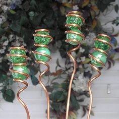 Glass Copper Garden art